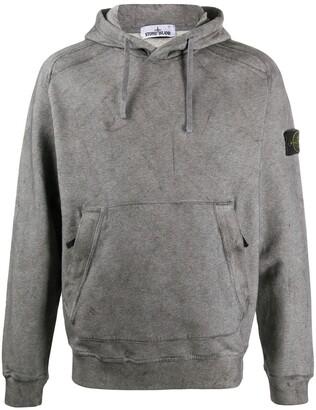 Stone Island Logo-Patch Hooded Sweatshirt
