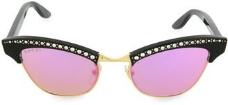 Gucci 49MM Mirrored Cat Eye Sunglasses