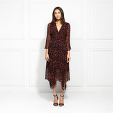 Rachel Zoe Caden Floral Silk Chiffon Midi Dress