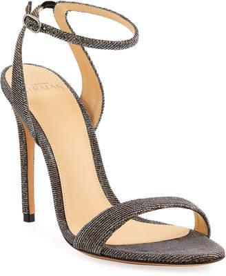 Alexandre Birman Willow Metallic Stretch Sandals