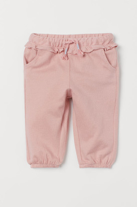 H&M Frill-trimmed pull-on trousers