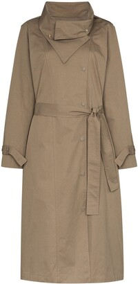 Frankie Shop Wing-Collar Trench Coach