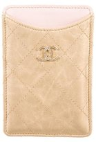Chanel Quilted CC Cell Phone Sleeve