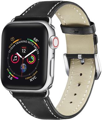 Posh Tech Black Cow Leather 38mm Apple Watch 1/2/3/4 Band