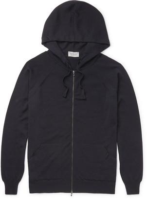 John Smedley Reservoir Merino Wool Zip-Up Hoodie