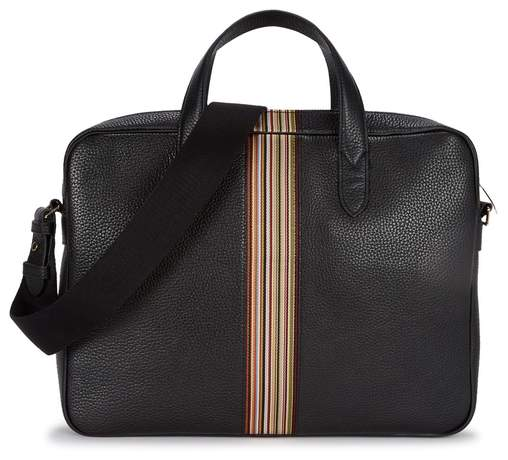 Paul Smith Black Grained Leather Briefcase
