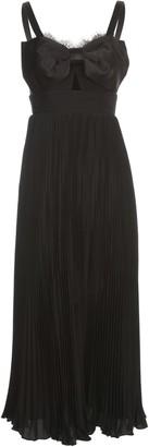 Self-Portrait Tailored Crepe Bow Midi Dress