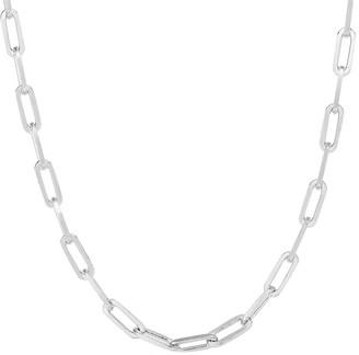 Sphera Milano 14K Over Silver Paperclip Chain Necklace