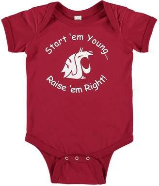 E.m. Unbranded Infant Crimson Washington State Cougars Start Young Bodysuit