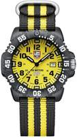 "Luminox Scott Cassell"" Yellow and Black Interchangeable Strap Watch Set"