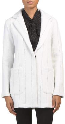 Textured Pinstripe Soft Blazer