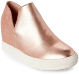 Wanted Rose Gold Adiron Metallic Wedge Sneakers