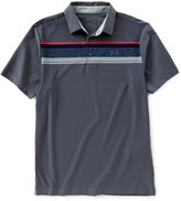 Under Armour Golf Horizontal Striped Short-Sleeve Playoff Polo Shirt