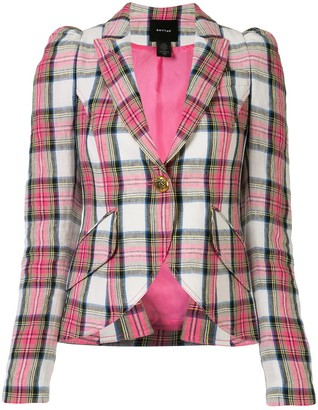 Smythe Checked Print Fitted Blazer
