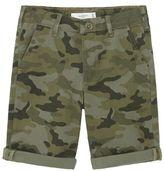 MANGO Boys Camo-Print Bermuda Shorts
