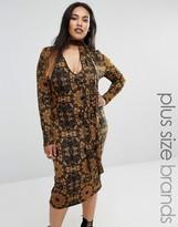 Club L Plus Midi Dress With Removable Scarf