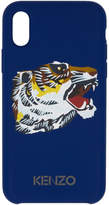 Kenzo Blue Tiger Head iPhone X Case