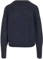 Brunello Cucinelli Embellished Detail Cable-Knit Sweater