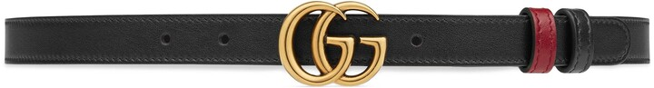 Thumbnail for your product : Gucci GG Marmont reversible thin belt