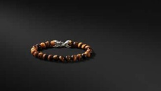 David Yurman Spiritual Beads Bracelet With Tiger's Eye, 8Mm