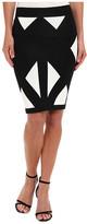 BCBGMAXAZRIA Natalee Geometric Jacquard Skirt