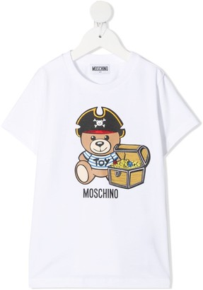 Moschino Jersey T-shirt With Teddy Bear Print
