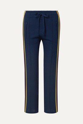 Etoile Isabel Marant Dobbs Striped Knitted Track Pants - Midnight blue