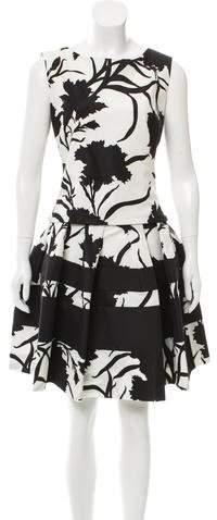 Christian Dior Printed Knee-Length Dress