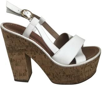 Diane von Furstenberg White Leather Heels