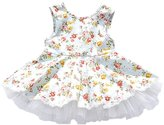Zhengpin Sweet Kids Baby Girl Flower Princess Toddler Sleeveless Wedding Party Dress