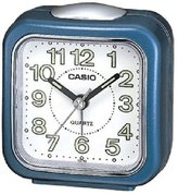 Casio TQ-142-2 Table Top Travel with Light Alarm Clock Blue