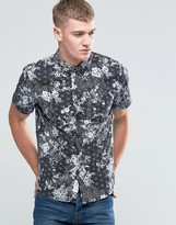 NATIVE YOUTH Floral Print Short Sleeve Shirt