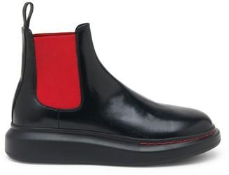 Alexander McQueen Platform Leather Chelsea Boots