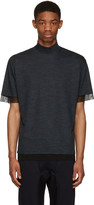 Kolor Navy Wool T-Shirt