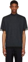 Kolor Navy Wool T-shirt