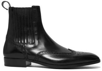 Saint Laurent Wyatt Leather Chelsea Boots - Mens - Black