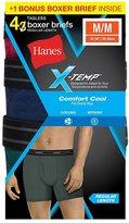 Hanes Comfort Cool Men`s 4-Pack X-Temp Boxer Brief, 973XF4, M