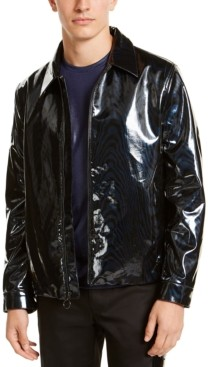 INC International Concepts Inc Men's Rubberized Harrington Jacket, Created for Macy's