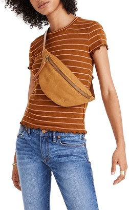 Madewell Stripe Print Cropped Baby T-Shirt