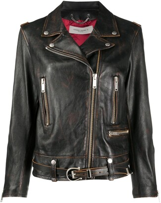 Golden Goose Zip-Up Biker Jacket