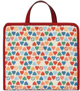 Gucci Children's G heart print tote bag