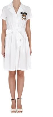 Moschino Teddy Bead Embellished Shirt Dress