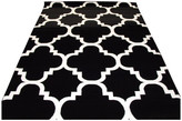 "Persian Rug Modern 4518 Moroccan Trellis Rug, Black, 5'2""x7'2"""