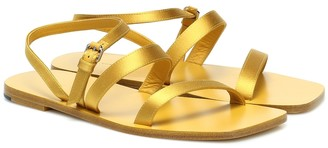 The Row Exclusive to Mytheresa a Flat Wedge satin sandals
