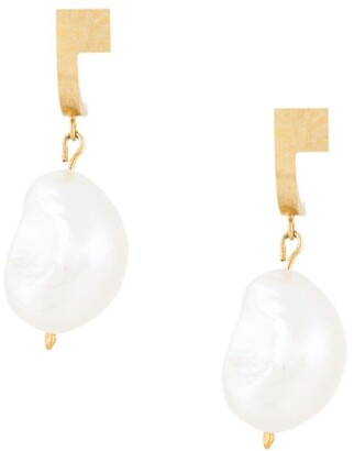 HSU JEWELLERY LONDON Pearl Drop Earrings