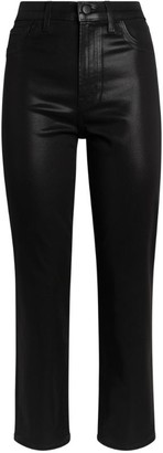J Brand Faux Leather Alma High-Rise Jeans