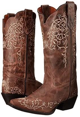 Laredo Jasmine (Taupe/Bone Flower Embossed) Cowboy Boots