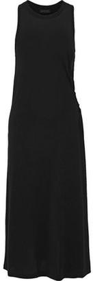 Rag & Bone Lula Lace-up Slub Jersey Midi Dress
