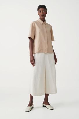 Cos Boxy Cotton-Linen Shirt