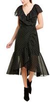 Rebecca Taylor Dotted Wrap Dress